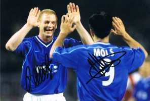 Signed Albertz and Mols Rangers Photo