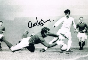 Signed Alex Stepney Manchester United Photo
