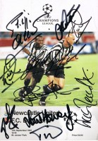 Multi signed Newcastle v Barcelona Programme