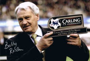 Signed Bobby Robson Newcastle photo