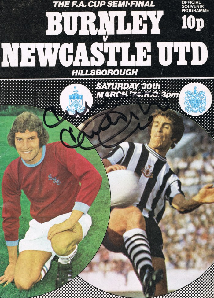 Signed Malcolm Macdonald Newcastle Programme