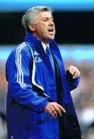 Signed Carlo Ancelotti Chelsea Photo