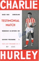 Signed Charlie Hurley Testimonial Programme