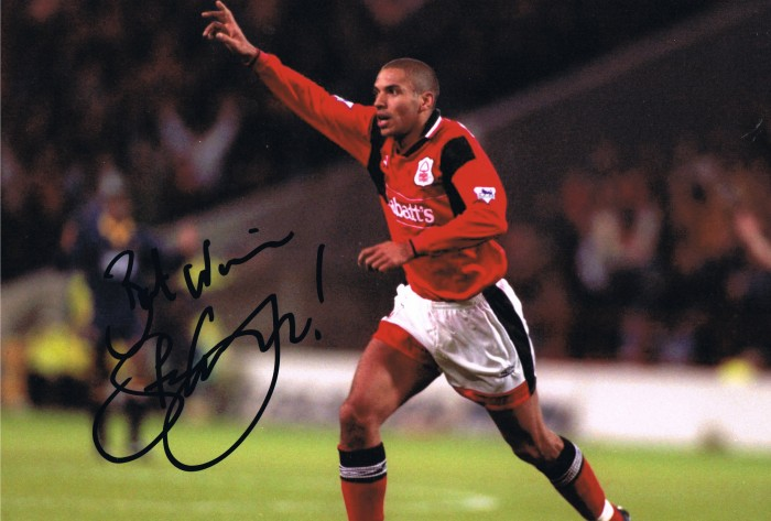 Signed Stan Collymore Nottingham Forest Photo