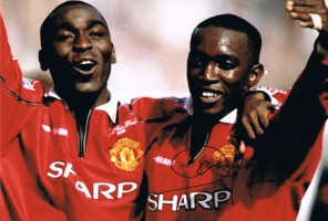 Signed Dwight Yorke Manchester United Photo