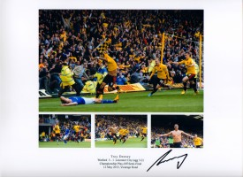 Signed Troy Deeney Watford Play Off Photo