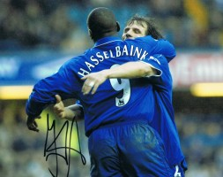 Signed Jimmy Floyd Hasselbaink Autograph Chelsea Photo