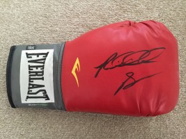 Signed Riddick Bowe Boxing Glove