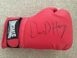 Signed David Haye Boxing Glove