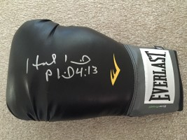 Signed Evander Holyfield Boxing Glove