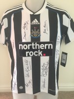 Multi Signed Newcastle Legends Shirt