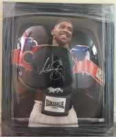 Signed and framed Anthony Joshua Boxing Glove
