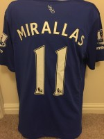 Signed Kevin Mirallas Everton Shirt
