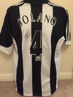 Signed Nobby Solano Newcastle Shirt