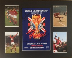 Signed Geoff Hurst and Martin Peters England 1966 Montage