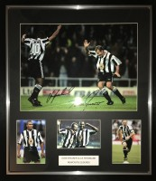 Signed Alan Shearer and Les Ferdinand Newcastle  Photo