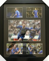 Signed framed Frank Lampard Chelsea Photo