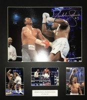 Signed Anthony Joshua v Klitschko Framed Montage