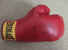 Signed Joe Calzaghe Boxing Glove