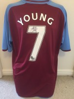 Signed Ashley Young Aston Villa Shirt