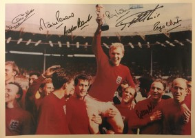 Multi  signed England 1966 World Cup Poster