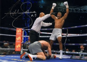 Signed Anthony Joshua v Wladimir Klitschko Photo