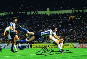Signed Keith Houchen 1987 FA Cup Final Goal Photo
