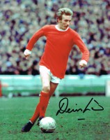 Signed Denis Law Manchester United Photo
