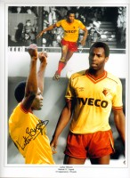 Signed Luther Blissett Watford Montage