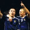 Signed Kenny Miller and Scott Brown Scotland Photo