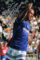 Signed Mark Hately Rangers Photo