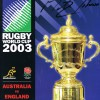 Signed Martin Johnson England Rugby World cup 2003 Programme