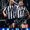 Signed Andy Carroll Kevin Nolan Newcastle Photo