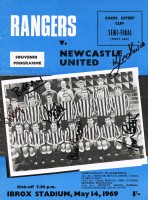 Signed Newcastle v Rangers Fairs Cup Programme