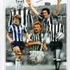 Signed Newcastle legends montage