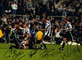 Signed Newcastle 5 Manchester United 0 photo