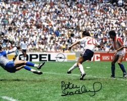 Signed Peter Beardsley England Photo