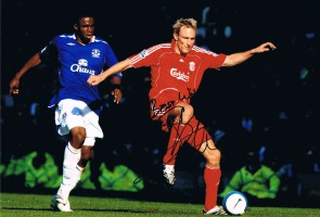 Signed Sami Hyppia Liverpool Photo