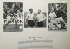 Signed Bobby and Jackie Charlton Print