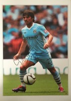 Signed David Silva Manchester City Photo