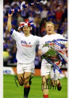 Signed Jorg Albertz and Arthur Numan Rangers Photo