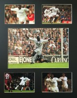 Signed Tony Yeboah Photo montage