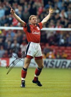 Signed Stuart Pearce Nottingham Forest Photo