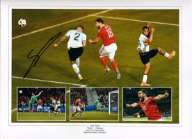 Signed Sam Vokes Wales Photo Montage