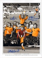 Signed Wolverhampton Wanders 1974 Montage