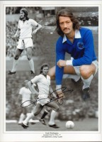 Signed Frank Worthington Leicester City Montage