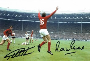Signed Geoff Hurst and Martin Peters England 1966 Photo
