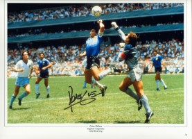 Signed-Peter-Shilton-England-v-Argentina-Autograph-Photo-Hand-Of-God-Proof-281730291967