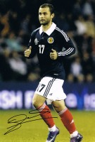 Signed Shaun Maloney Scotland Photo