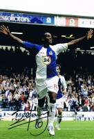 Signed Benni McCarthy Blackburn Rovers Photo